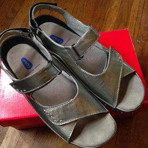 Wolky Cloggy Sandal Inox Silver Metallic